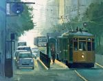 "Shopping in San Francisco - 24"" x 24"" - Nancy Crookston"