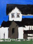 """White House - 9"""" x 12"""" - Sandra Pratt"""
