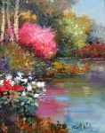 "By the Ponds Edge - 20"" x 16"" - Scott Wallis"