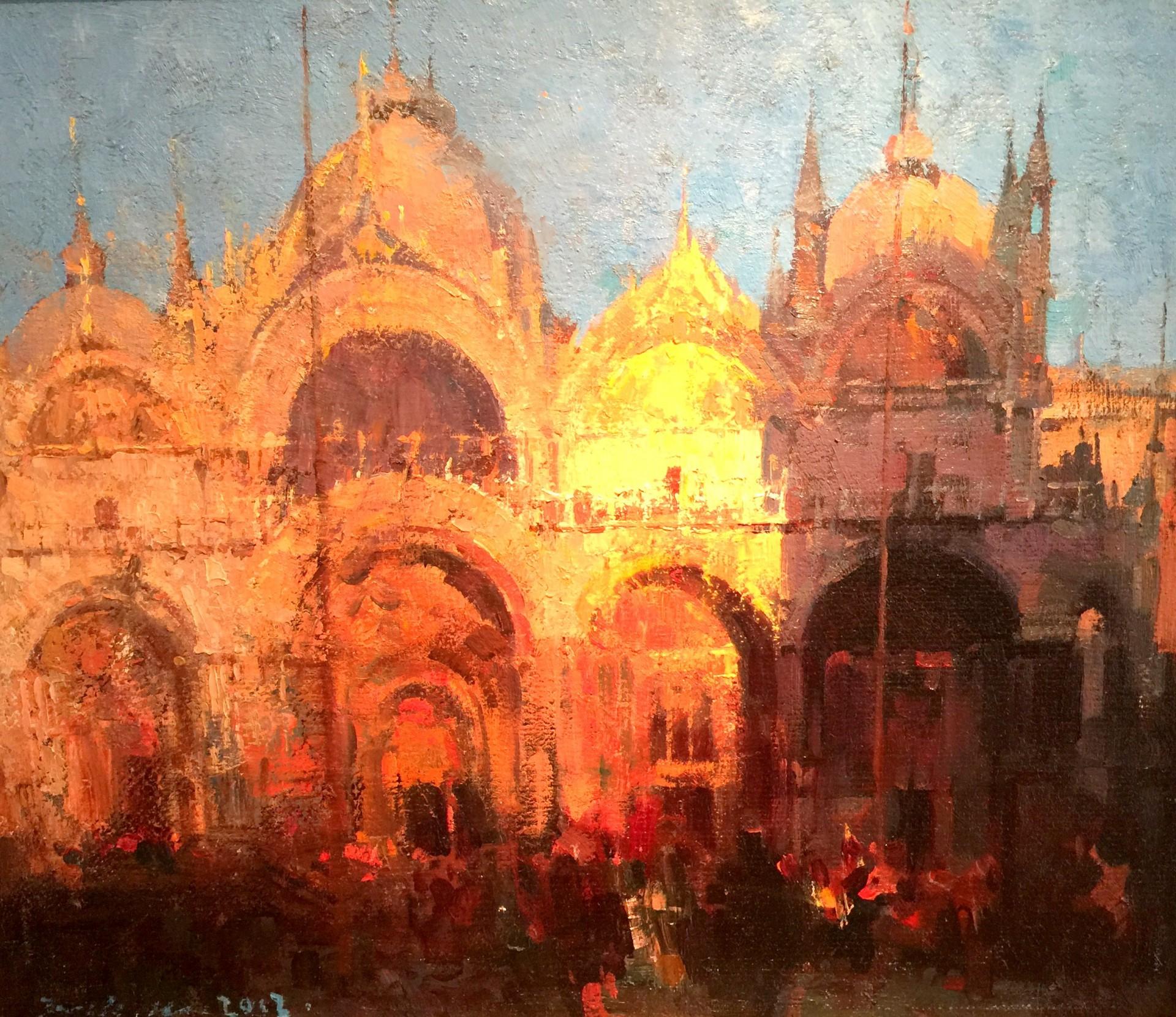 "San Marco Sunrise - 20"" x 23"" - Jove Wang"