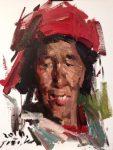 "Tibetan Woman - 14"" x 11"" - Jove Wang"