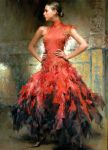 "Flamenco Dancer in Red | 40"" x 30"" | Stephen Pan"