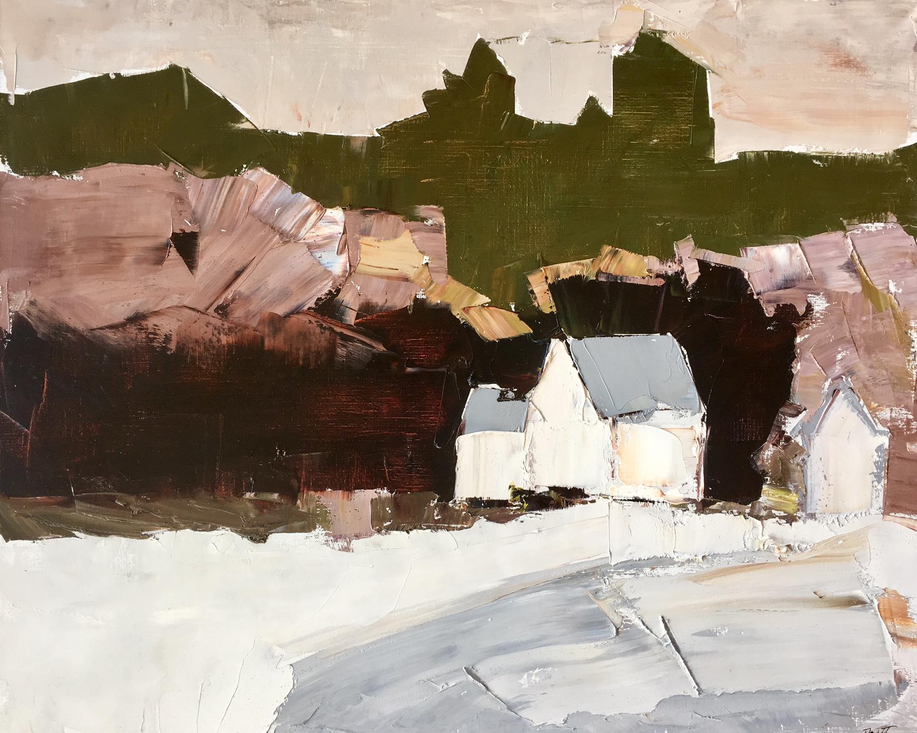 "White Barn - 20"" x 24"" - Sandra Pratt"