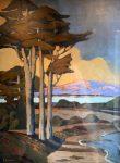 "Cypress Near the Beach | 48"" x 35"" | Jack Cassinetto"