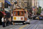 "San Francisco Cable Car | 24"" x 35"" | Jesus Navarro"
