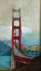 """Golden Gate - 30"""" x 30"""" - Nancy Crookston"""