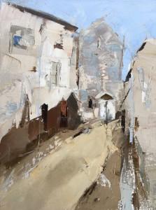 """French Alley - 9"""" x 12"""" - Sandra Pratt"""