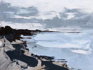 "Rocky coast - 8"" x 10"" - Sandra Pratt"