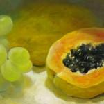 Fernando Palma | Grapes and Papaya| 26x48| 2007 | 837