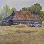 "Late Afternoon - Tuolumne Farm - 12"" x 20"" - Oil on Canvas - Barbara Conley"