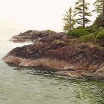 "Tiffany Hastie - West Coast Afternoon - Oil - 3.25"" x 2.75"""