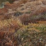 "Tiffany Hastie - Winter Grass - Oil - 1.75"" x 5.25"""