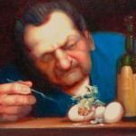 """'A Little Undercooked"""" - 12"""" x 16"""" - Oil - Richard Lithgow"""