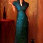 """The Dragon Lady"" - 30"" x 20"" - Oil - Richard Lithgow"