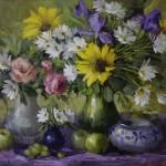 "Summer Floral - 22"" x 28"" - Oil - Hedi Moran"
