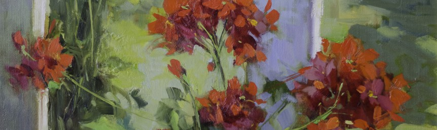 "Morning Flowers - 24"" x 18"" - Oil - Hedi Moran"