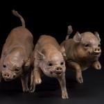 "Petal's Piglets (Bronze) | 20"" x 15"" x 10"" | Carrie Quade"