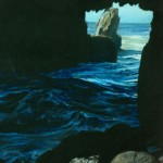 "Tunnel Rock, Big Sur - 19.5"" x 16.5"" - Pastel - DeWitt Whistler Jayne"