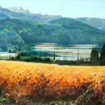"Autumn Below the Dentelles - 16"" x 22"" - Pastel - DeWitt Whistler Jayne"