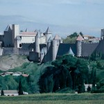 """Carcassonne From The South - 17"""" x 22.5"""" - Pastel - DeWitt Whistler Jayne"""