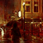 "Rainy Night - 20"" x 24"" - Oil - Hye Seong Yoon"