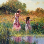 "Spring Day - 30"" x 30"" - Oil - Robert Hagan"