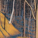 """Frick Park"" - 20"" x 15"" - Reduction Woodcut Print - Gordon Mortensen"