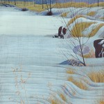"""Late November"" - 24"" x 17"" - Reduction Woodcut Print - Gordon Mortensen"