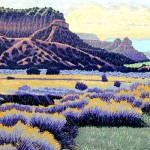 """New Mexico"" - 12"" x 18"" - Reduction Woodcut Print - Gordon Mortensen"