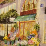 "Patrick Alain Fleuriste - 10"" x 8"" - Oil - Dorothy Spangler"