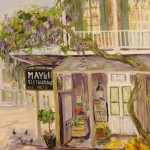 """Mayle Restaurant - New Orleans - 11"""" x 14"""" - Oil - Dorothy Spangler"""