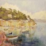 """Portofino - 36"""" x 36"""" - Oil - Dorothy Spangler"""