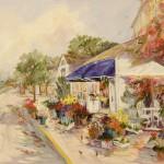 """Sausalito Spring - 24"""" x 30"""" - Oil - Dorothy Spangler"""