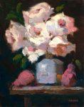"Roses, Blue Vase & Pears | 14"" x 11"" | Ernie Baber"