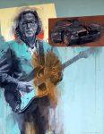 "Eric Clapton | 58"" x 45"" | Stanley Rose"