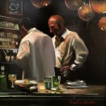 "Arranging in the Kitchen | 14"" x 14"" | Thalia Stratton"