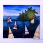 "VELE - 22"" x 22"" - Reverse Glass Painting - Massimo Cruciani"