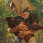 "Evening Visitor- 24"" x 18"" - Oil - Trent Gudmundsen"