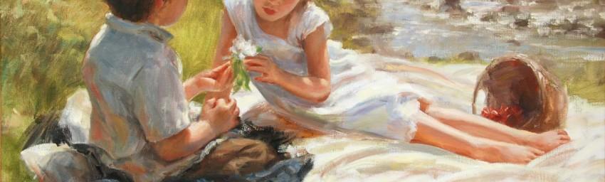 """A Spring Morning - 24"""" x 36"""" - Oil - Trent Gudmundsen"""
