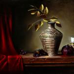 "ISLAS MEXICAN VASE - 11.5' x 17.5"" - Oil on Linen - Eduardo Chacon"