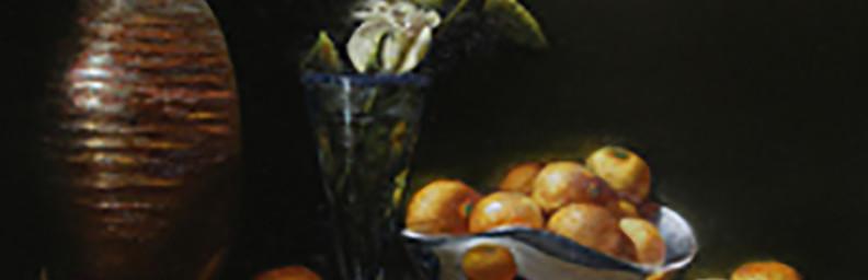 "NAMBE MANDARINS - 24"" x 16"" - Oil on Linen - Eduardo Chacon"