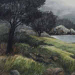 "Cool Morning Point Lobos- 8"" x 18"" - Oil on Canvas - Gerald Brommer"