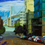 "Bay Bridge - 40"" x 30"" - Oil on Canvas - Russ Wagner"