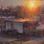 """Blinding Light - 11"""" x 14"""" - Oil - John Lasater"""