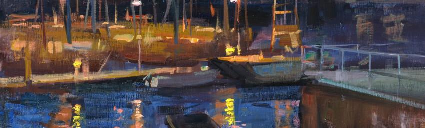 "Monterey Wharf - 20"" x 24"" - Oil - John Lasater"
