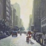 """Road Block - 30"""" x 30"""" - Oil on Board - Richard Boyer"""