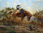 "Ropin the Calf - 30"" x 40"" - Oil on Canvas - Robert Hagan"