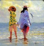 "Summertime - 30"" x 30"" - Oil on Canvas - Robert Hagan"