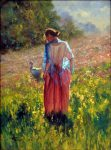 "Gathering Sunshine - 40"" x 30"" - Oil on Canvas - Robert Hagan"