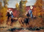 "Reining In - 30"" x 40"" - Oil on Canvas - Robert Hagan"